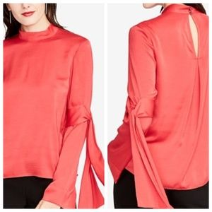 Rachel Roy Red Mock Neck Top